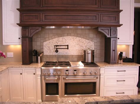 wood kitchen hood designs wood vent hood kitchen transitional with candlesticks