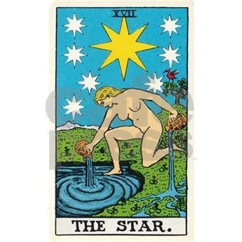 the star tarot card drinking glass by lunagirl images