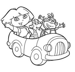 free printable dora explorer coloring pages kids