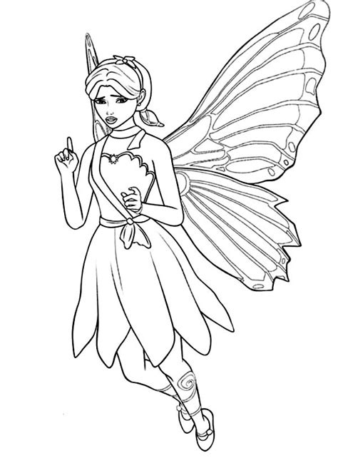 barbie mariposa coloring pages barbie a fairy secret