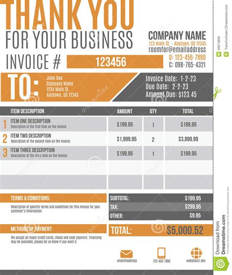 graphic design invoice template word 10 best images of invoice template graphic design