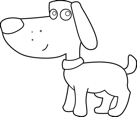 black and white coloring pages of dogs doggie coloring page free clip