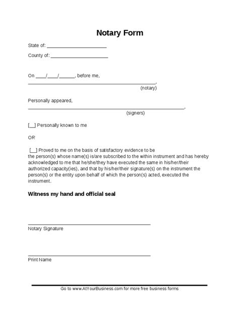 notarized document template blank notary forms hashdoc