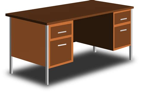 Office Bureau Desk Clipart An Office Desk