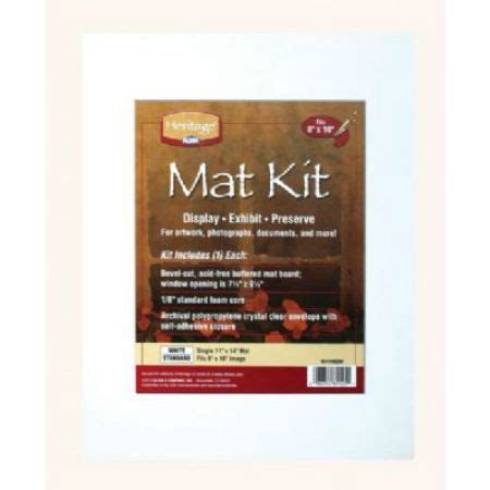 10 X 10 Mat Opening by Mat Board Kit 8 X 10 Opening White Du All Drafting