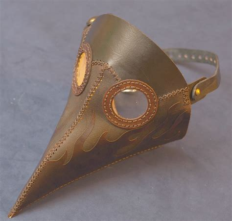 Handmade Leather Masks - skepchick auctions handmade leather plague doctor mask