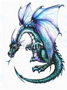color dragon tattoo design