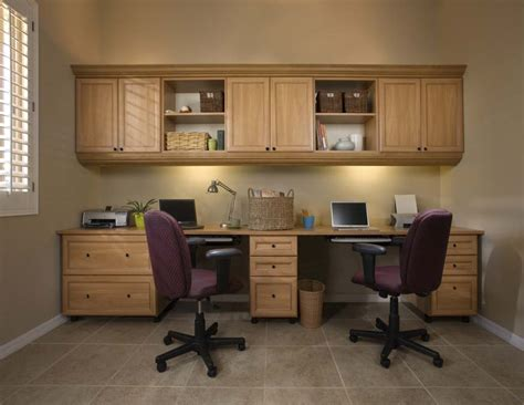 dual desk office ideas possible layout desk on bottom cabinets hanging off