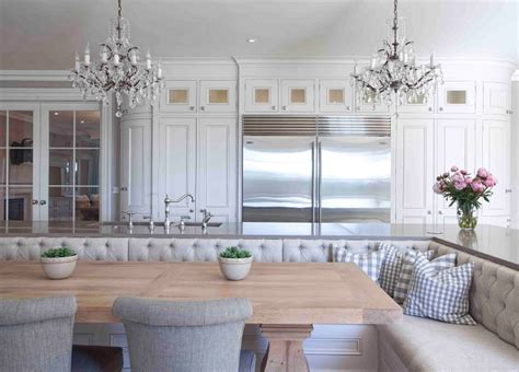 Kitchens With Banquettes by Traditional Home With Large European Kitchen