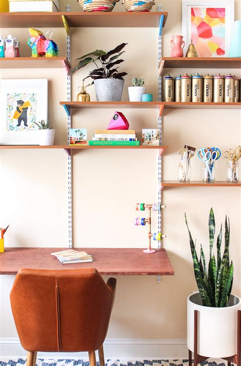 Wall To Wall Desk Diy Pinned It Made It Loved It Diy Mounted Wall Desk The Crafted