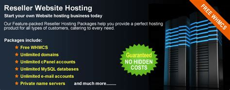 reseller website hosting  plans include  whmcs