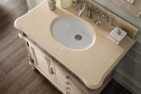 Single Vanity Cabinet 36 Inch Antique Single Sink Bathroom Vanity Galala Beige