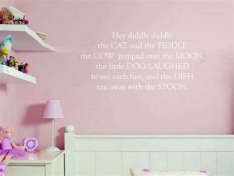 Nursery Rhyme Wall Decals Nursery Rhyme Wall Stickers Interior Design Ideas