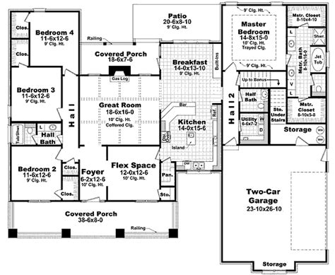 2400 square feet house 31391 blueprint details floor plans
