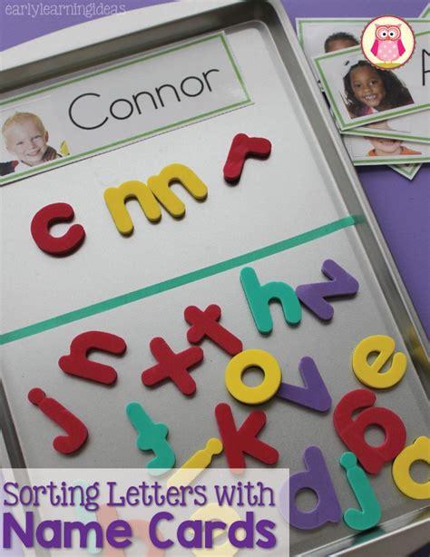 kindergarten activities with magnetic letters sorting magnet letters with name cards magnetic letters