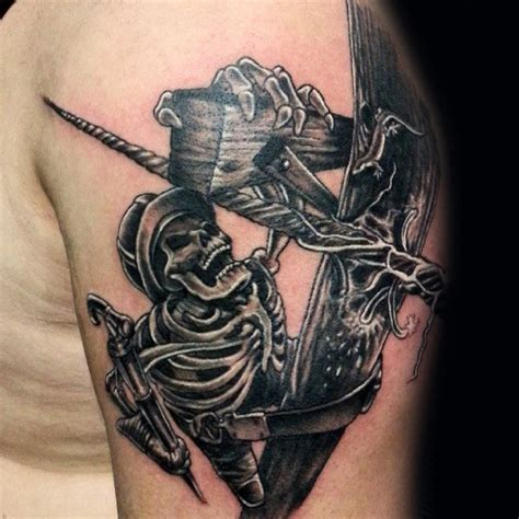 electrician tattoos 50 lineman tattoos for electrical design ideas