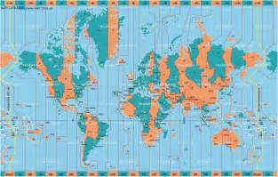 World Clock Map by Pics Photos Printable World Time Zone Map