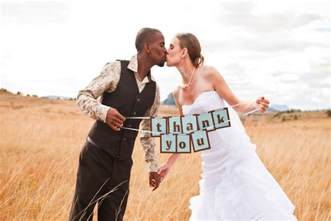 Wedding Holding Thank You Sign by 7 Ways To Say Thank You To Your Wedding Guests