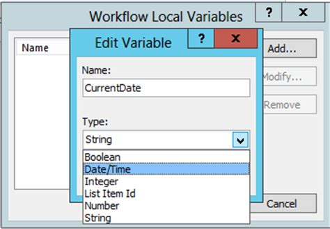 sharepoint 2010 workflow variables define workflow variables in sharepoint workflow