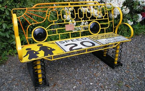 recycled benches for schools these fantastically creative school benches will make you
