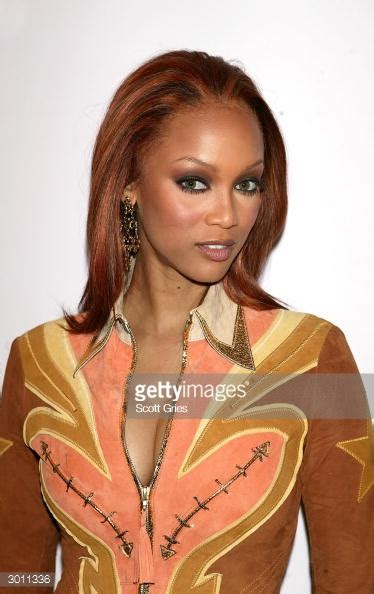Model Tyra Banks poses for a photo backstage during MTV's ... V Banks Model