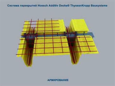 Hoesch Additiv Decke by Cистема перекрытий Hoesch Additiv Decke