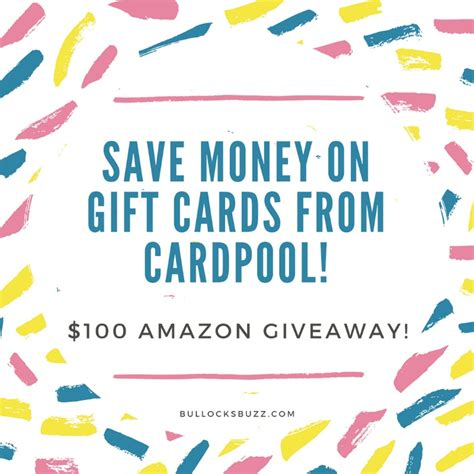 Cardpool Gift Cards - save money on discounted gift cards from cardpool plus a 100 amazon giveaway
