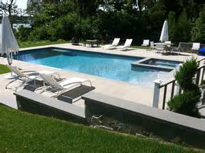 pool overflow spa patio in hton bays