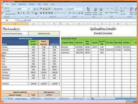 real estate agent expenses spreadsheet excel
