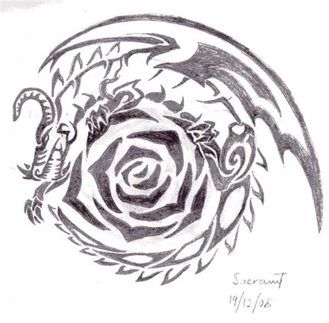 rose dragon scrap by saera song on deviantart