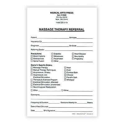 dental referral form template arts press 174 therapy referral form 5 1 2x8