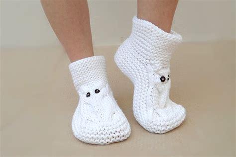 white house slippers owl slippers white slippers knit slippers house slippers unisex on luulla