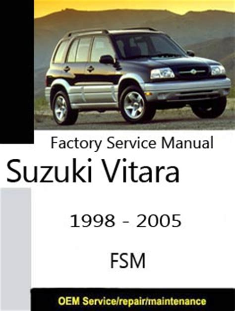 free auto repair manuals 1999 suzuki vitara navigation system suzuki grand vitara factory service repair manuals