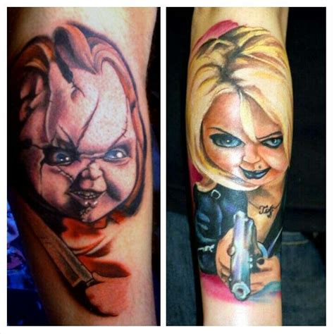 chucky and tiffany tattoo tattoos pinterest tatuagem