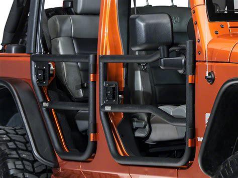 jeep jku tube doors rugged ridge wrangler black textured rear tube doors