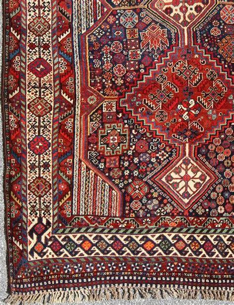 tribal pattern rug antique persian qashqai shiraz tribal rug with hooked