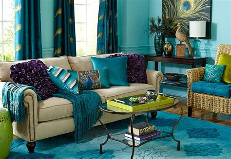 Peacock Color Living Room by Inspiring Peacock For Your Home