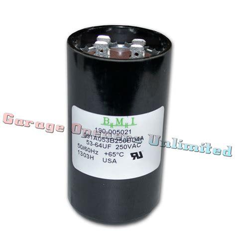 capacitor 1 mfd allstar linear 190 005021 capacitor 53 64 mfd 250v 1 3 hp