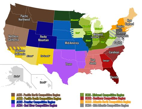 U S A usa club rugby geographical unions