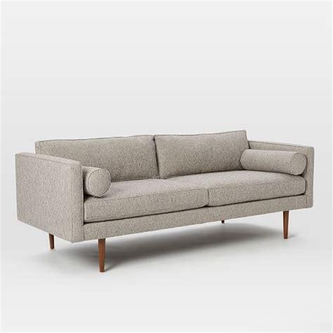mid century couches monroe mid century sofa 80 quot west elm