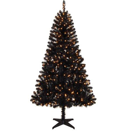 walmart in store artificial christmas trees time pre lit 6 5 colorado black pine artificial tree clear lights walmart