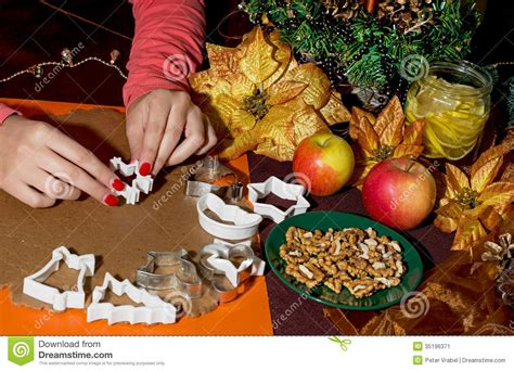 christmas for preparation preparation gingerbread cookies stock image image 35196371