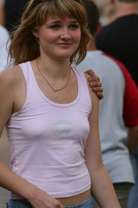 pokies budding braless puffy nipples