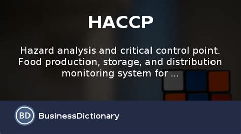 haccp d馭inition cuisine what is haccp definition and meaning businessdictionary com