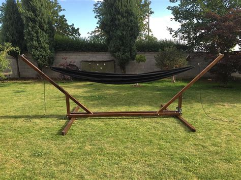 Hammock Stand For Sale Near Me How I Made My Fold Able Hammock Stand Outdoor Diy