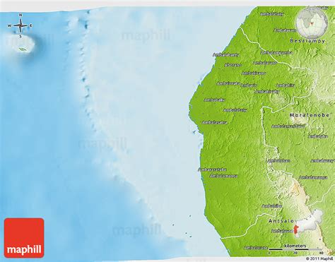 physical map of madagascar physical 3d map of maintirano