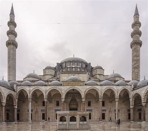 ottoman mosque 697px cour mosquee suleymaniye istanbul jpg