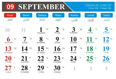 kalender bulan september   kumplit beserta