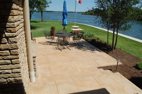 acid stain turns concrete patios in san antonio into