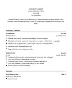 resume template for administrative assistant free 10 executive administrative assistant resume templates